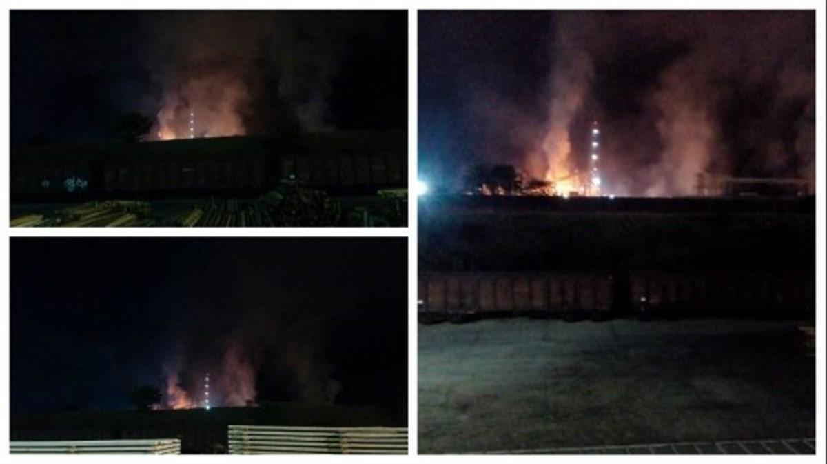 Un incendiu a izbucnit la fabrica Kronospan din Sebeș, în zorii zilei de marți. Pompierii au intervenit cu opt autospeciale la fața locului.