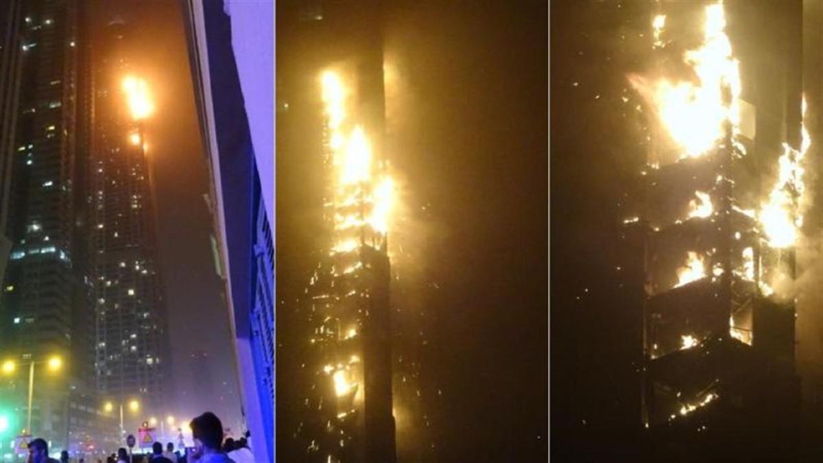 Zgârie-nori, în flăcări! Incendiu la o clădire de 79 de etaje