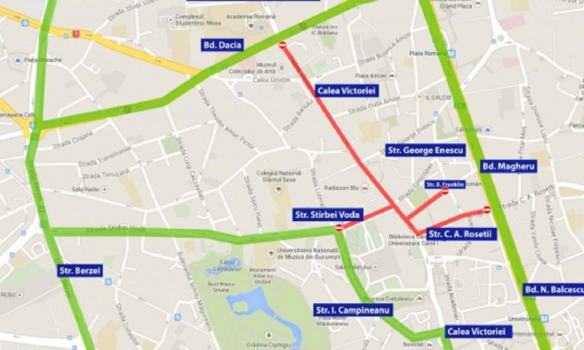 Bucureștiul, BLOCAT între orele 11.00-14.00! Unde sunt RESTRICȚII în trafic