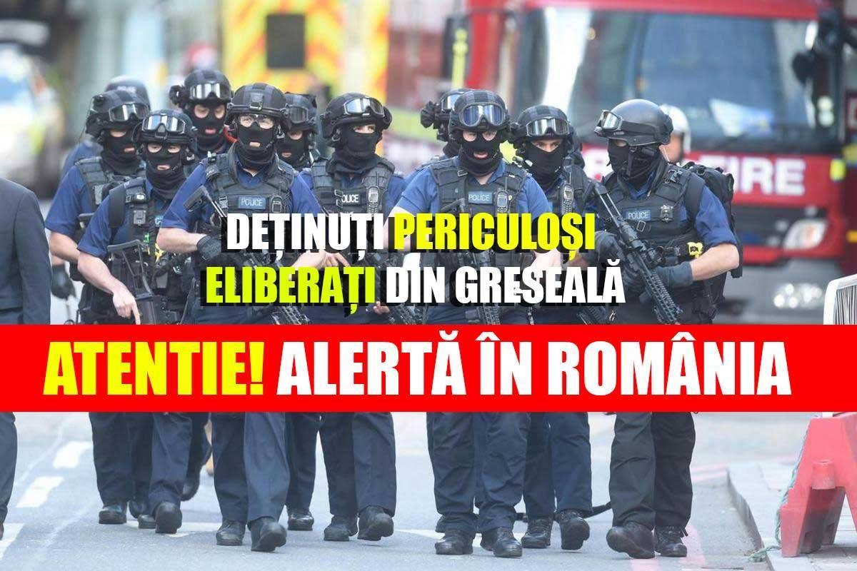 Autoritățile sunt în alertă maximă: Trei deținuți PERICULOȘI, eliberați din greșeală la Giurgiu. Recomandări pentru populație