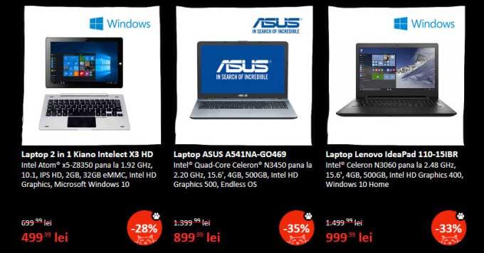Catalogul eMAG ofert specială la laptopuri