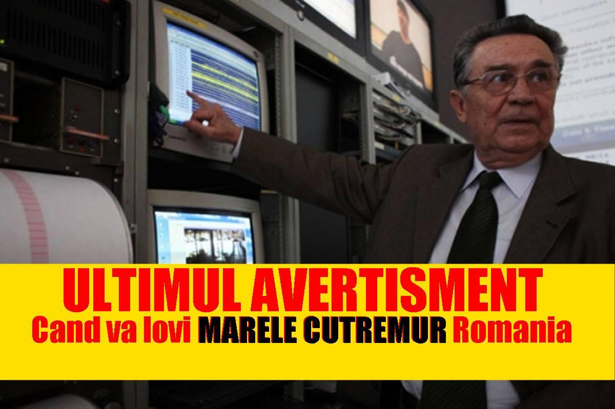 Cutremur în Românaia: Anunțul făcut de Gheorghe Mărmureanu după cutremurul puternic din seara asta