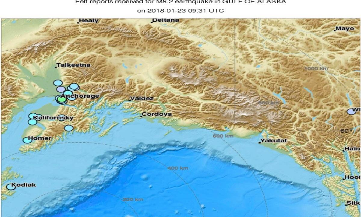 Cutremur cu magnitudinea de 8.2 grade pe scara Richter