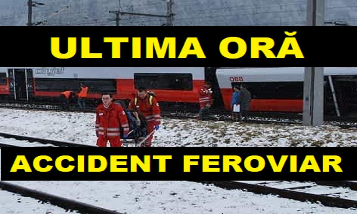 BREAKING NEWS Accident feroviar: Două trenuri s-au ciocnit, sunt zeci de răniţi