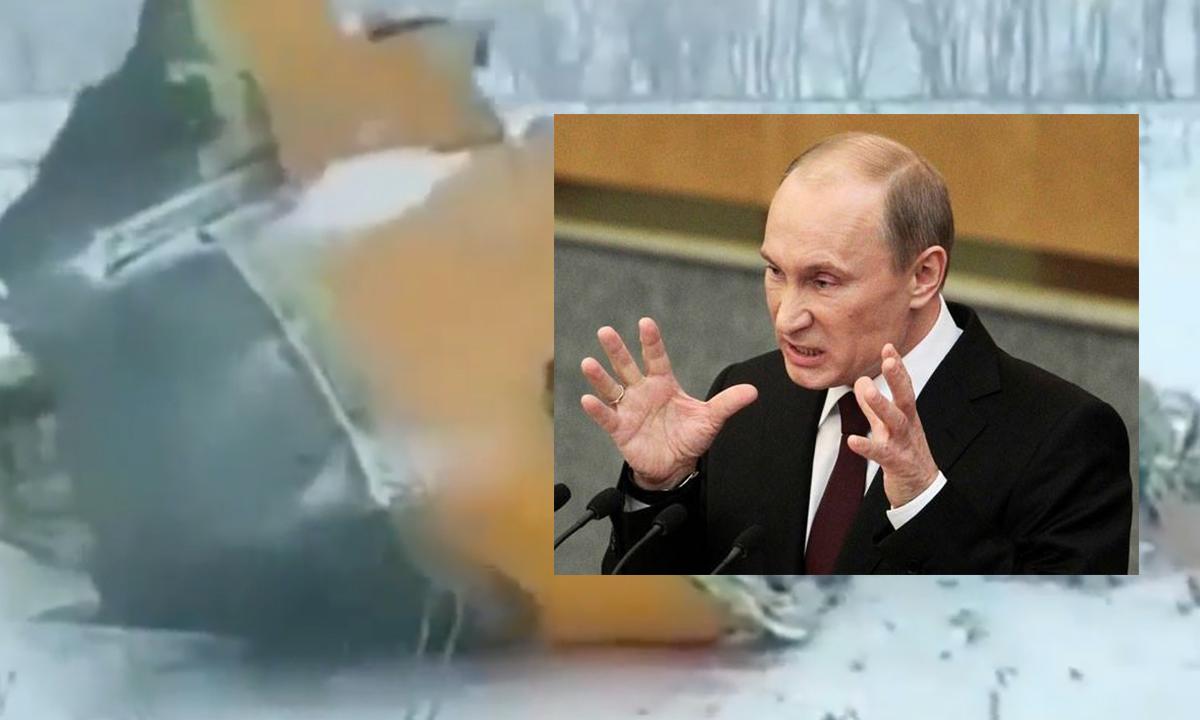 Avion Prăbușit. Imagini de la fața locului și măturiile martilor. Reacția lui Putin