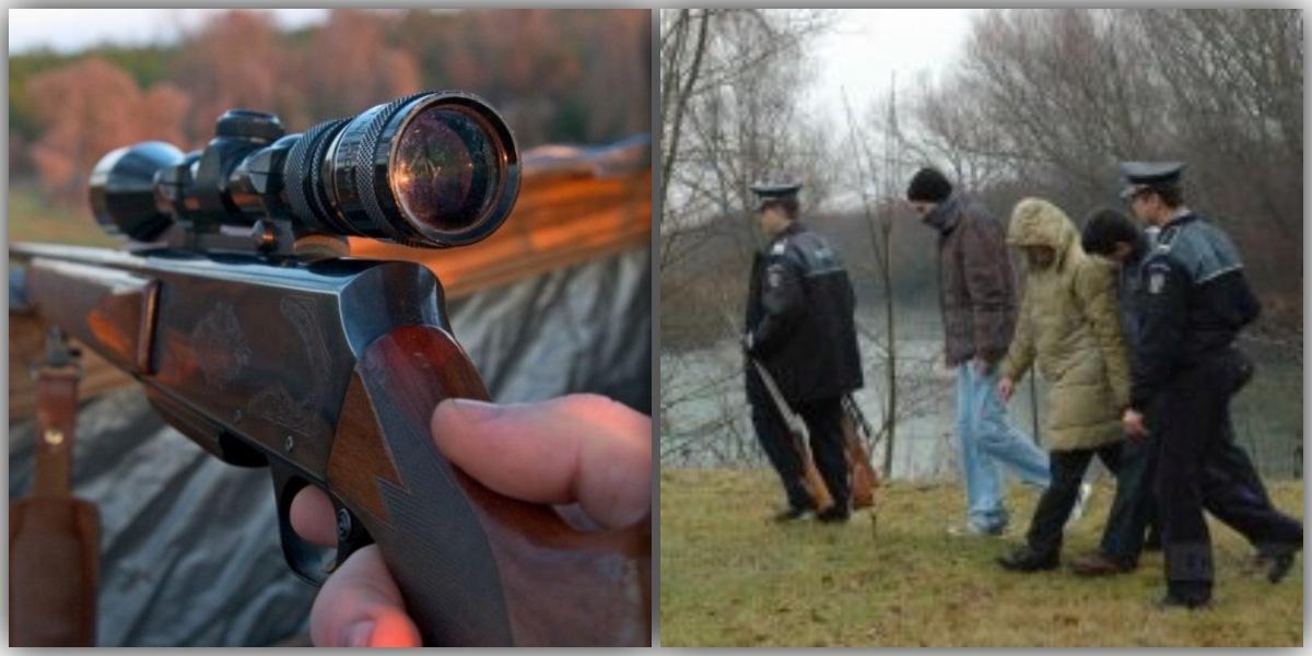 Braconieri, opriți cu focuri de armă pe un fond de vânătoare! Ce s-a găsit asupra lor