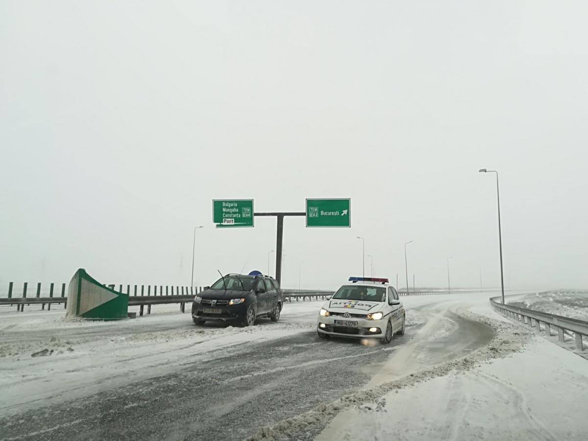 Starea drumurilor pe 23 martie. Circulația pe A2, închisă
