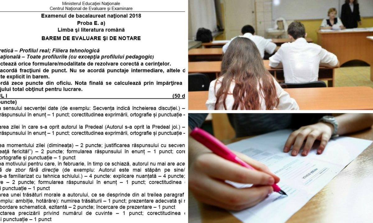 Subiecte Simulare Română BAC 2018 pentru clasele a XI a și a XII a