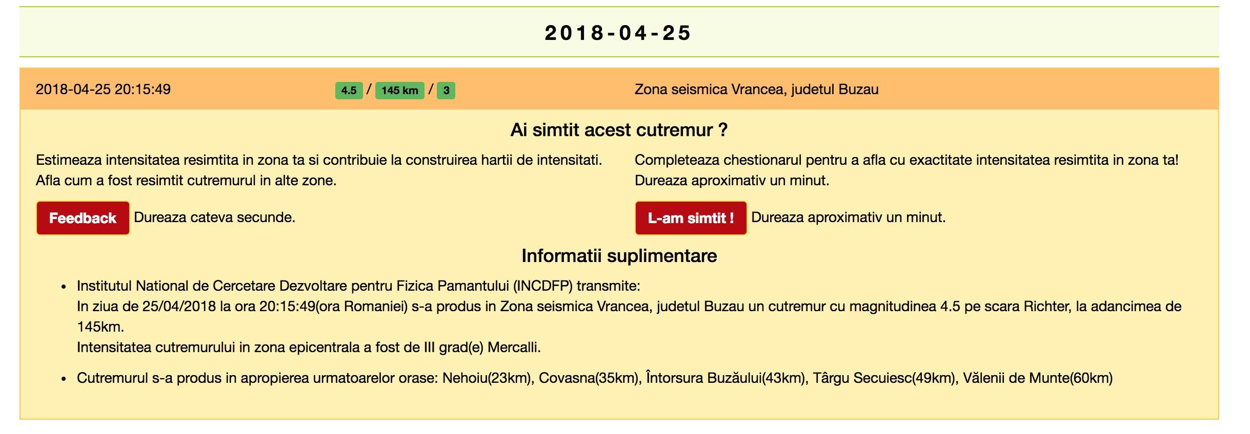 Cutremur de 5 grade în România! Seismul s-a resimțit și la București