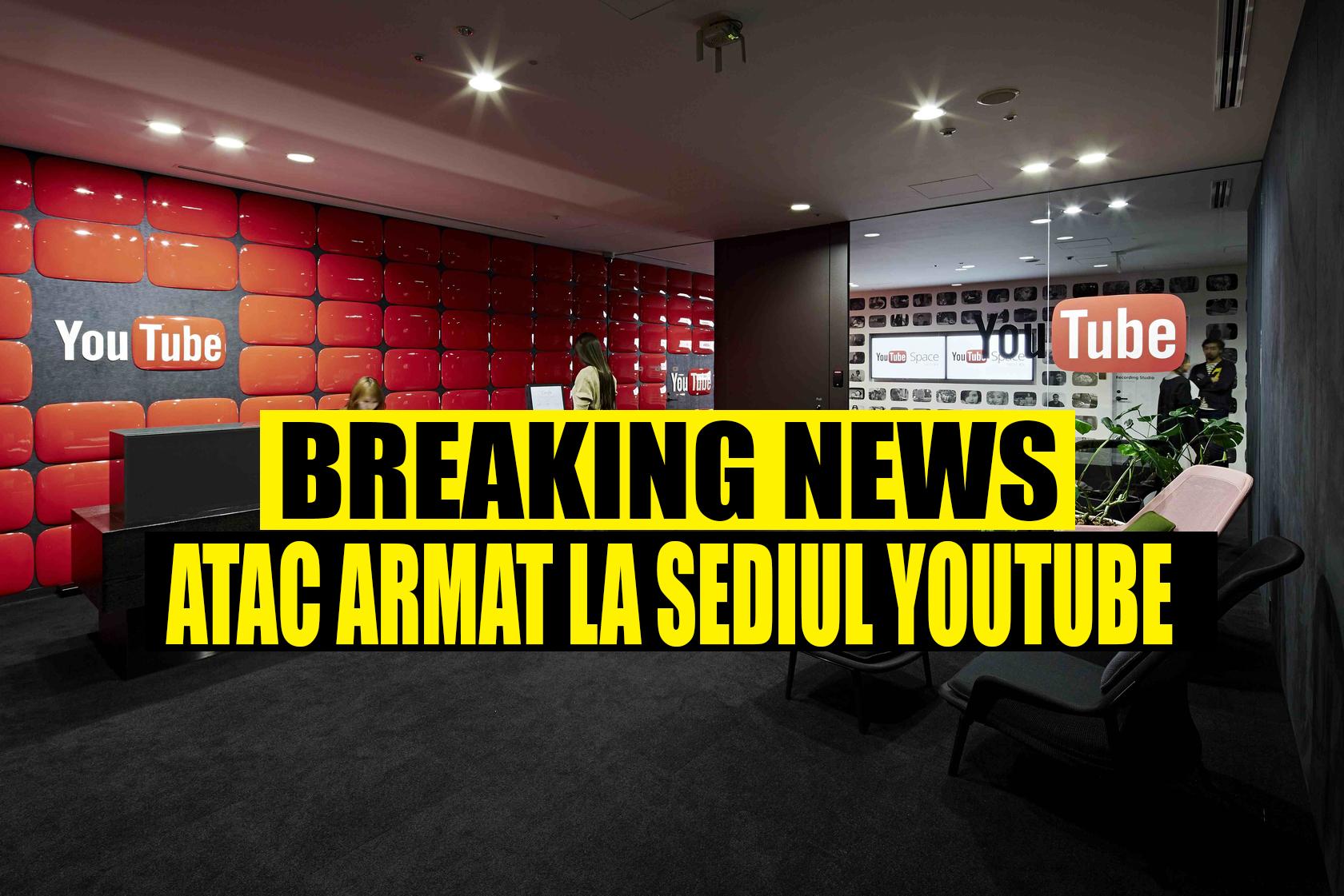 Atac Aramat la Sediul Google (Youtube) - Cel puțin 5 răniți. Atacatorul ar fi murit