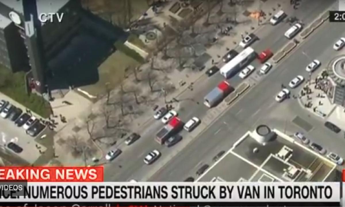 Atac la Toronto, în Canada. O camionetă a intrat într-un grup de pietoni şi aproximativ zece persoane au fost rănite, conform informaţiilor preliminare.