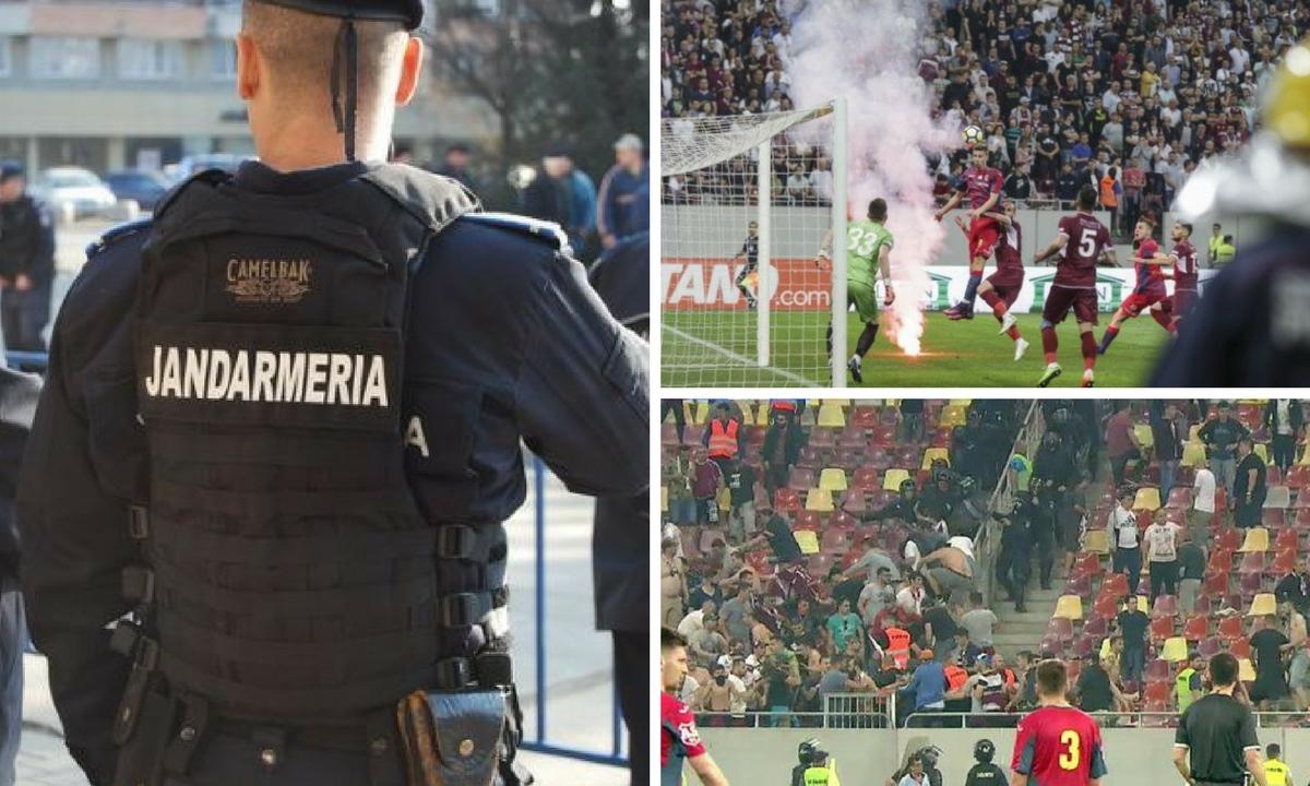 Incidente la Steaua - Rapid: Jandarmeria a aplicat sancțiuni drastice după bătaia din tribune