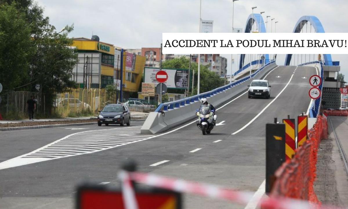 București: Accident la podul Mihai Bravu. O persoană a murit