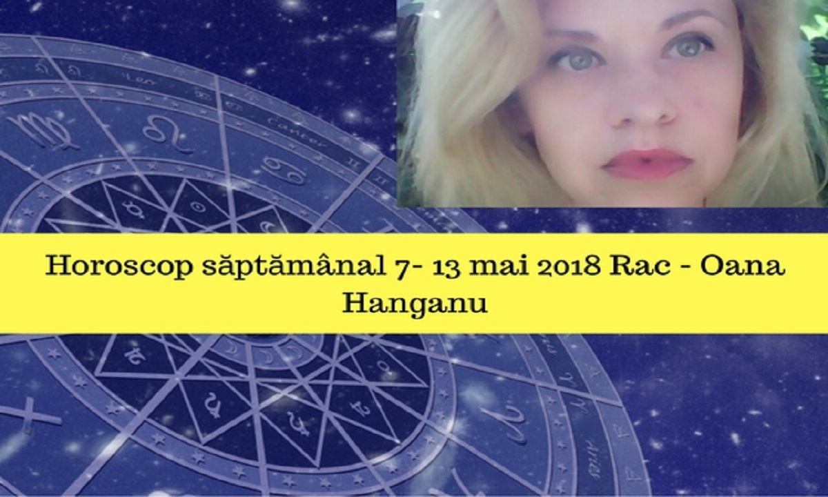 Horoscop săptămânal 7- 13 mai 2018 Rac - Oana Hanganu