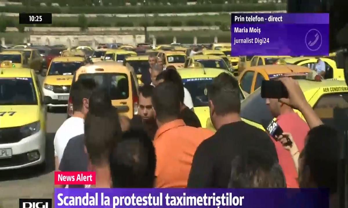 Protestul Taximetriștilor: Violenţe și centrul Capitalei blocat