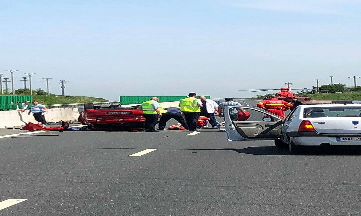 Accident pe Autostrada A2, kilometrul 140