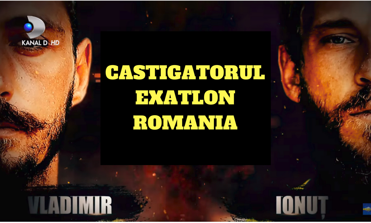 Exatlon 23 mai, FINALA: Cine a câştigat: Vladimir Drăghia sau Ionuţ Sugacevschi