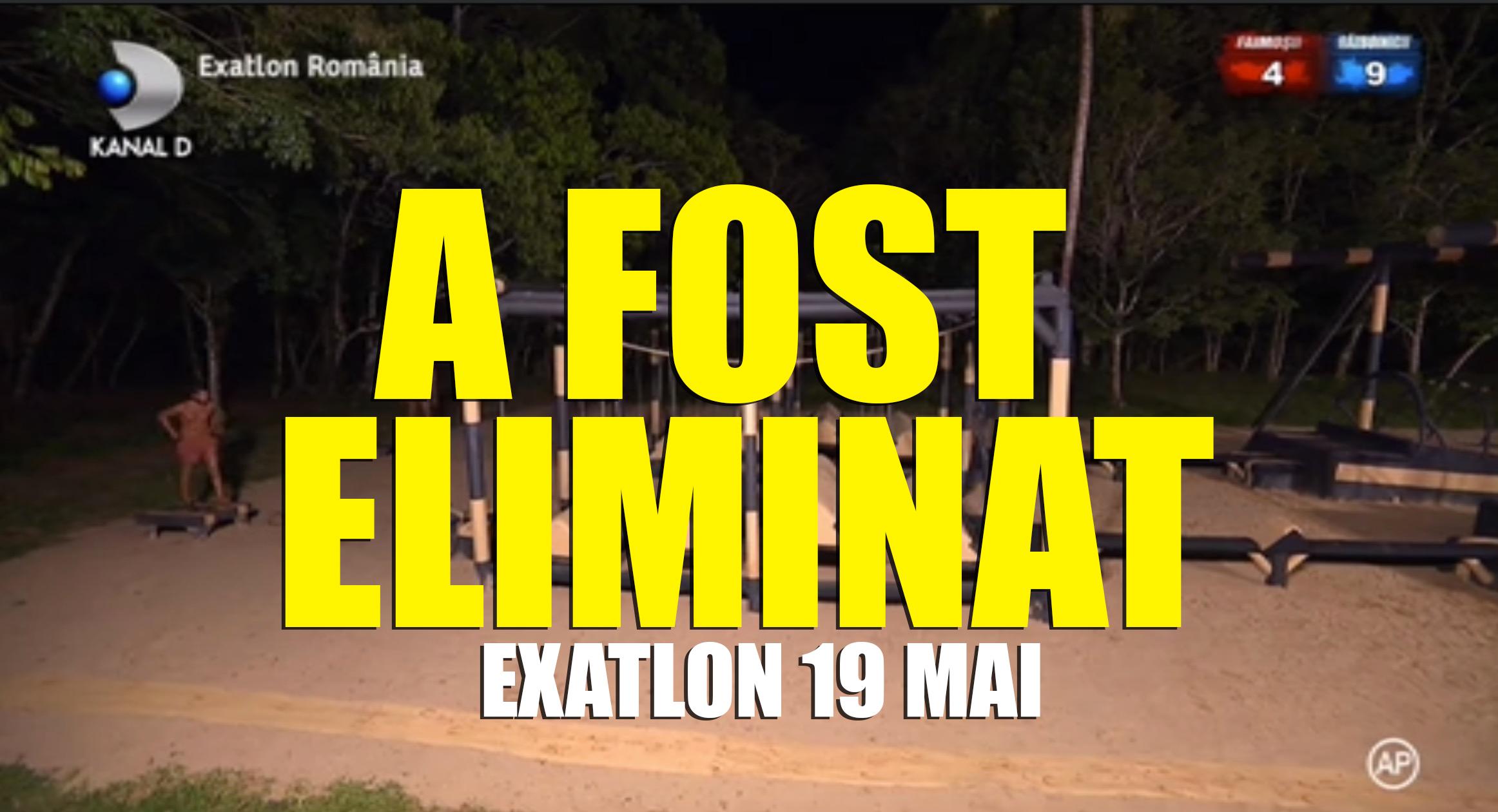 Exatlon 19 mai 2018 Concurentul eliminat din joc este