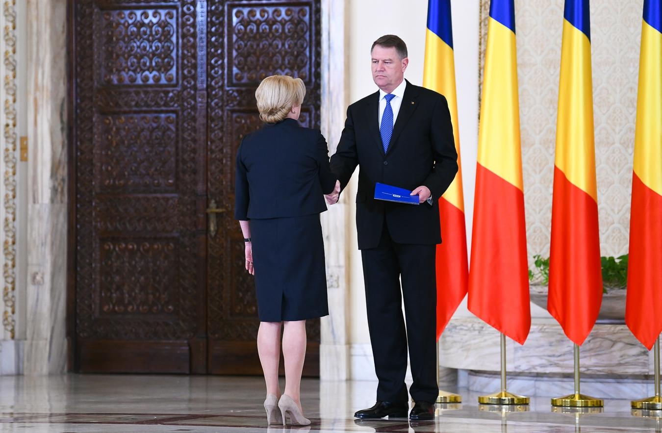 Întâlnire tensionată la Cotroceni, de Ziua Europei. Iohannis, față în față cu Dăncilă