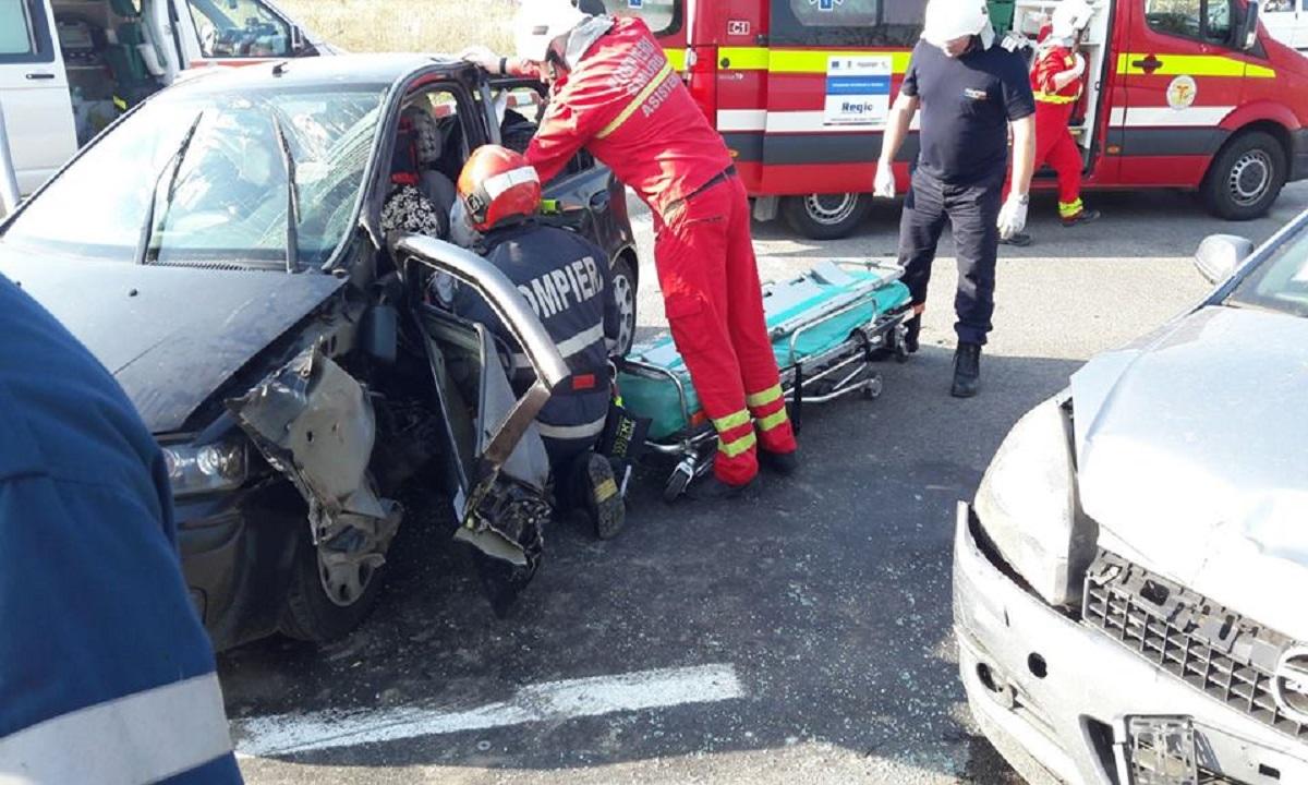 Accident de circulație grav în Hunedoara. O gravidă a fost rănită