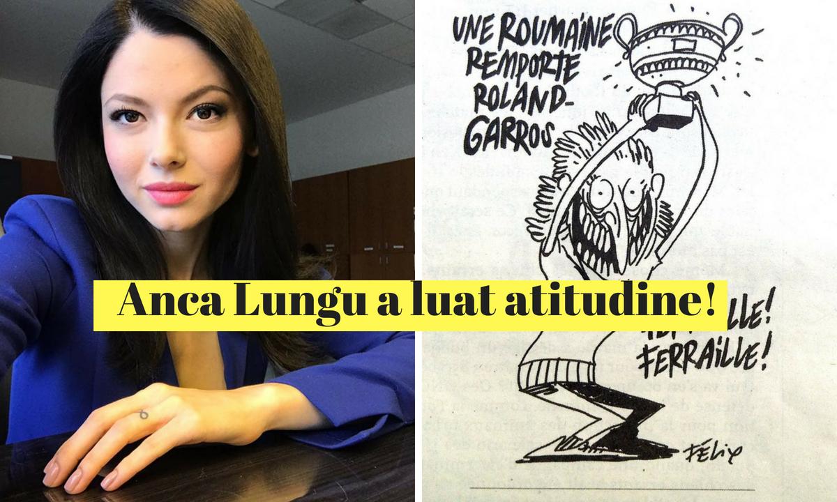 """Anca Lungu, mai nou sabilită în Franța, a cerut părerea francezilor legată de caricatura cu Simona Halep. """"Critică în special..."""""""