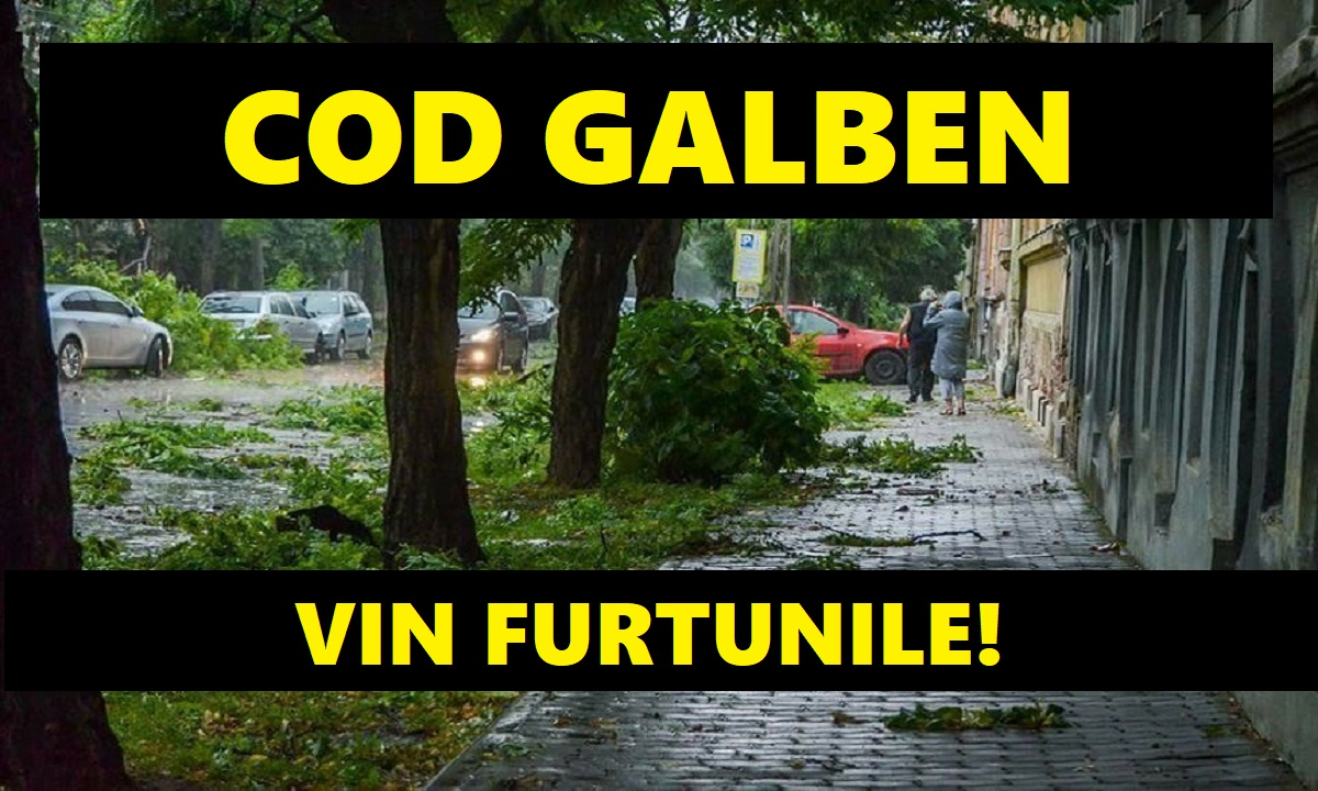 Cod galben de furtuni și vijelii în 31 de vijelii și vreme instabilă