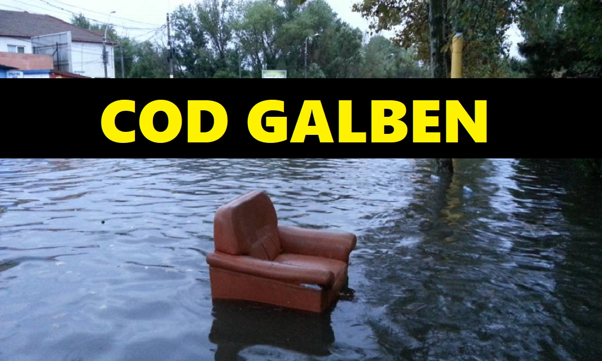 Avertizare de inundaţii în 10 bazine hidrografice, până sâmbătă după-amiază