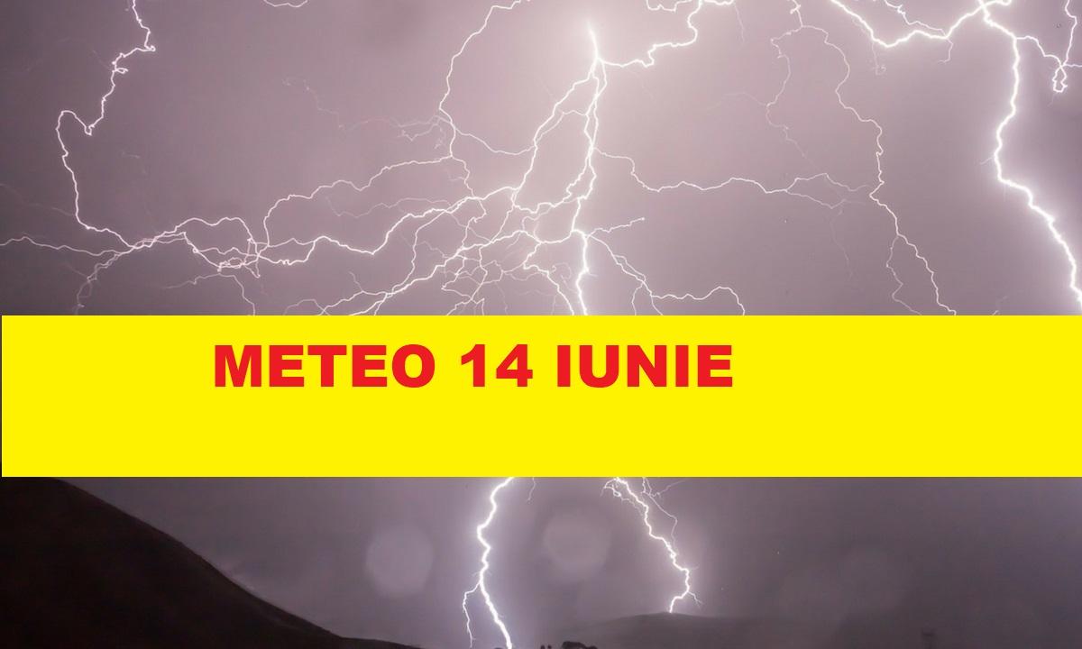 Meteo 14 iunie. Avertizare de furtuni puternice. Meteorologii au făcut anunțul astăzi