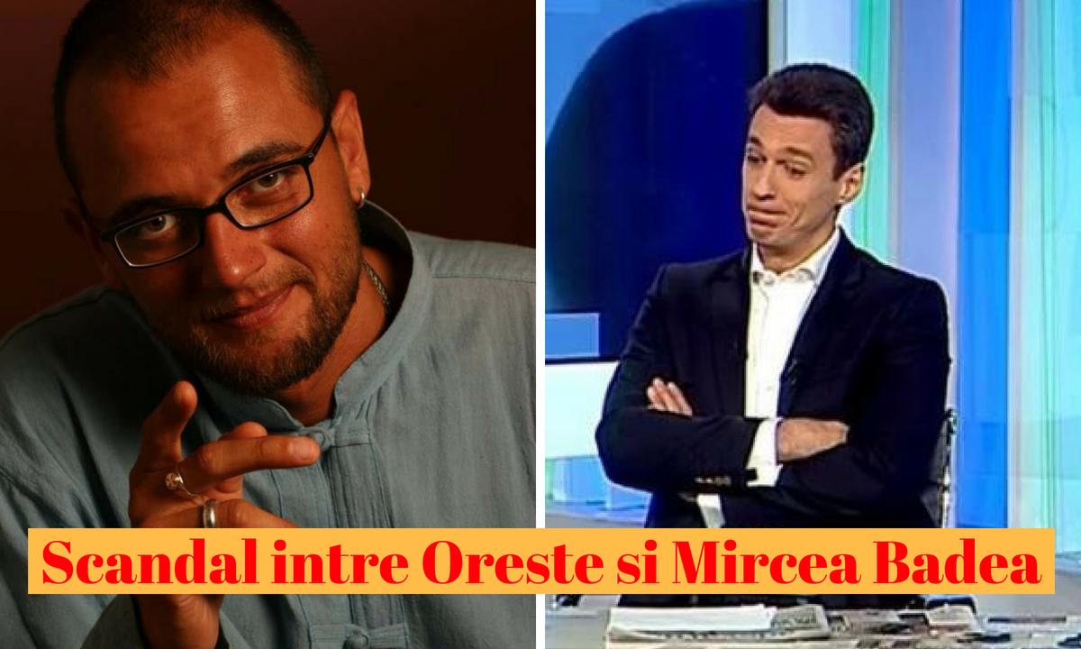 """Oreste la cuțite cu Mircea Badea: """"Mușchii tăi, carte nu are!"""""""
