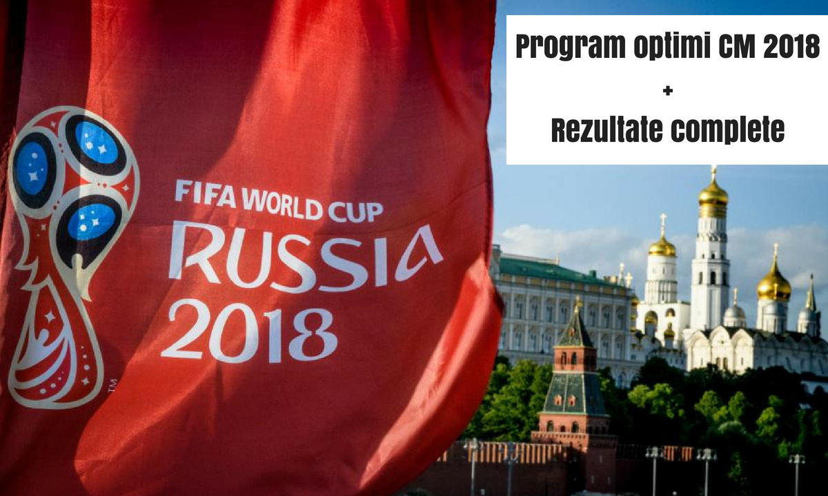 Program optimi CM 2018 - Rezultatele complete ale meciurilor și clasament grupe