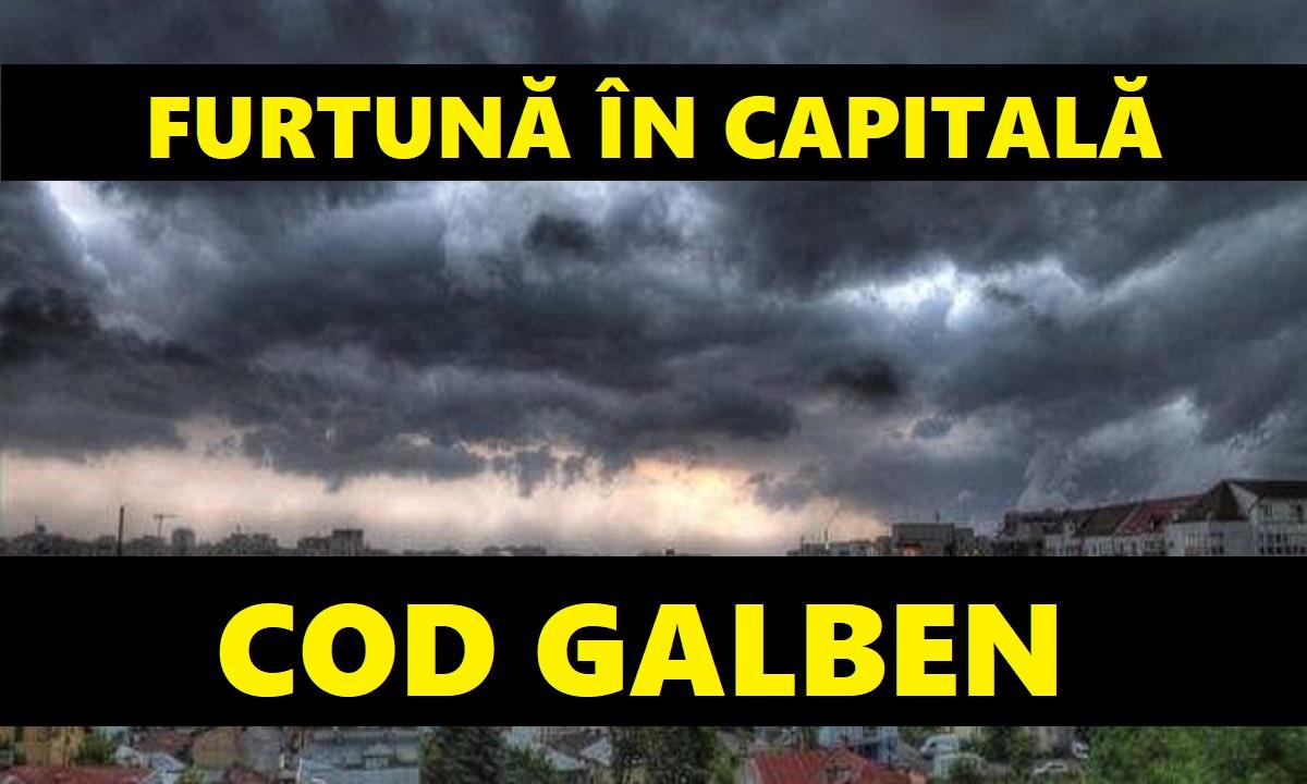 Cod galben de furtună și vijelie în București