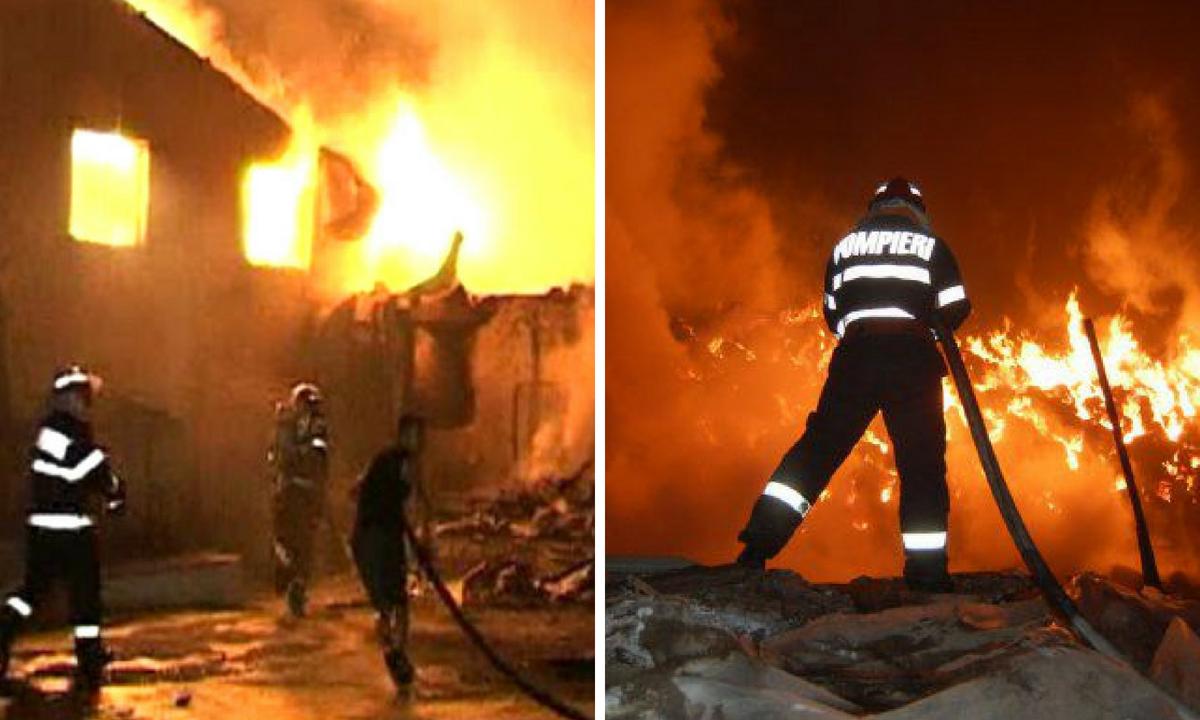 Olt: Incendiu în Coteana, într-o casă în care locuiau șapte oameni