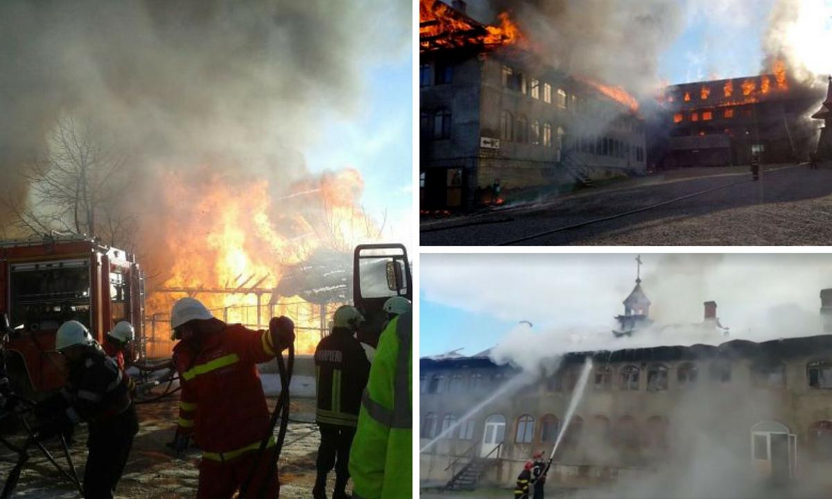 Incendiu la mănăstire. Mănăstirile Sf. Mina și Vovidenia au ars. Bilanțul incidentelor