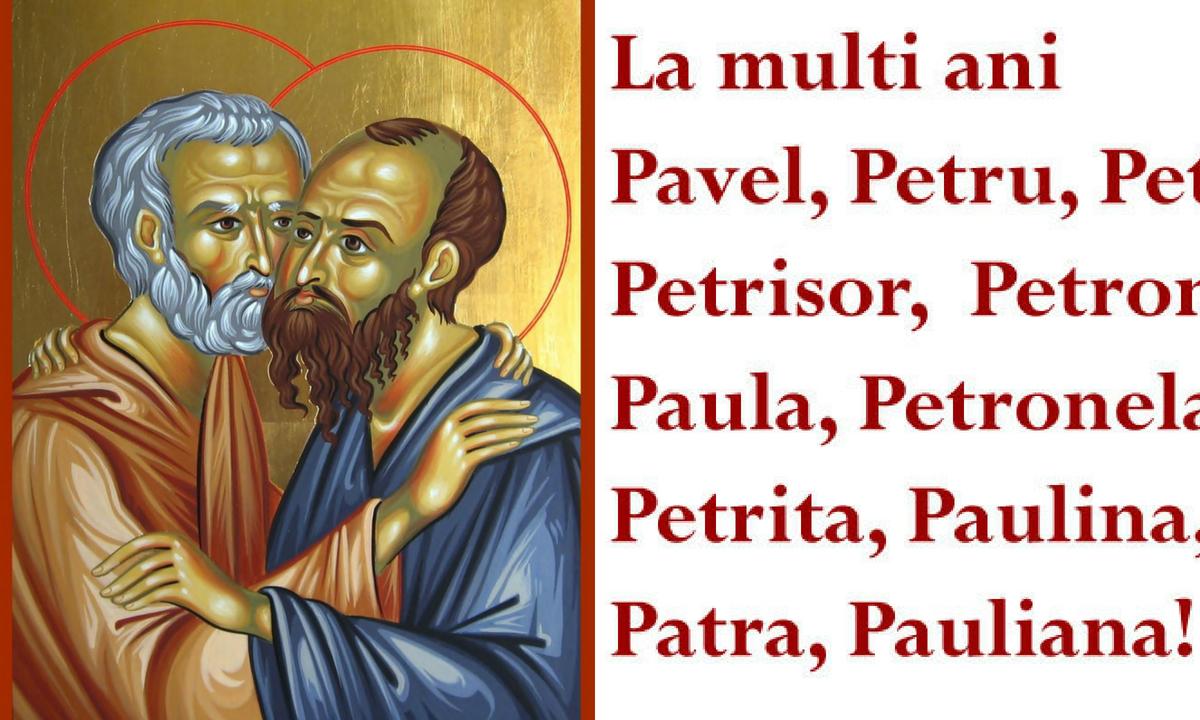 Mesaje de Sf. Petru și Pavel 2018: Urări, sms-uri și felicitări pentru cei dragi