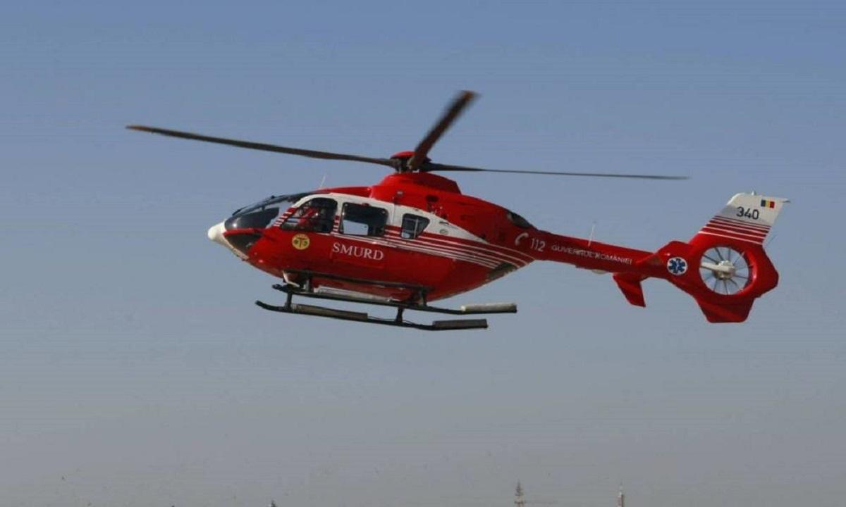 Turist ceh, salvat cu ajutorul unui elicopter SMURD