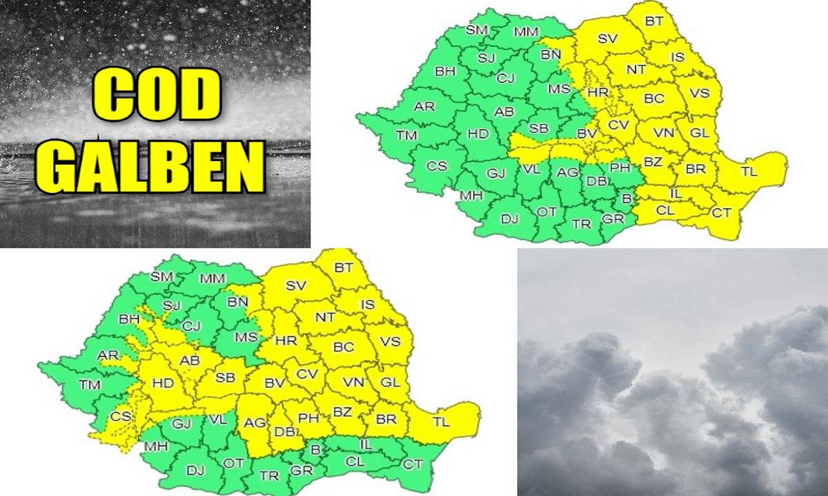 Alertă METEO: Vreme severă în următoarele 5 zile