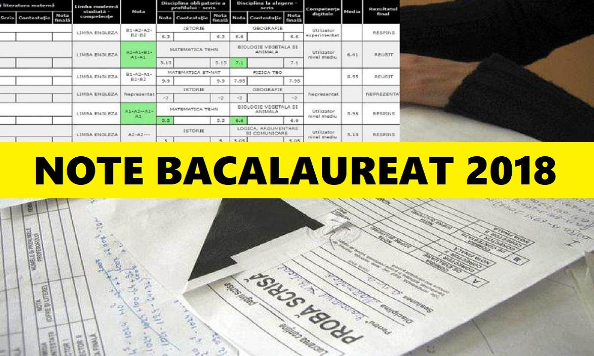 Note BAC 2018. Primele rezultate și ce se întâmplă dacă ai media 5.99