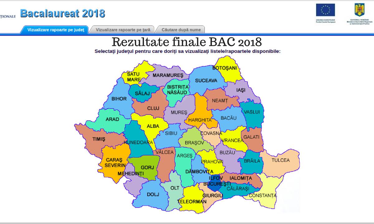 Rezultate finale BAC 2018: Notele online după contestaţii de pe edu.ro