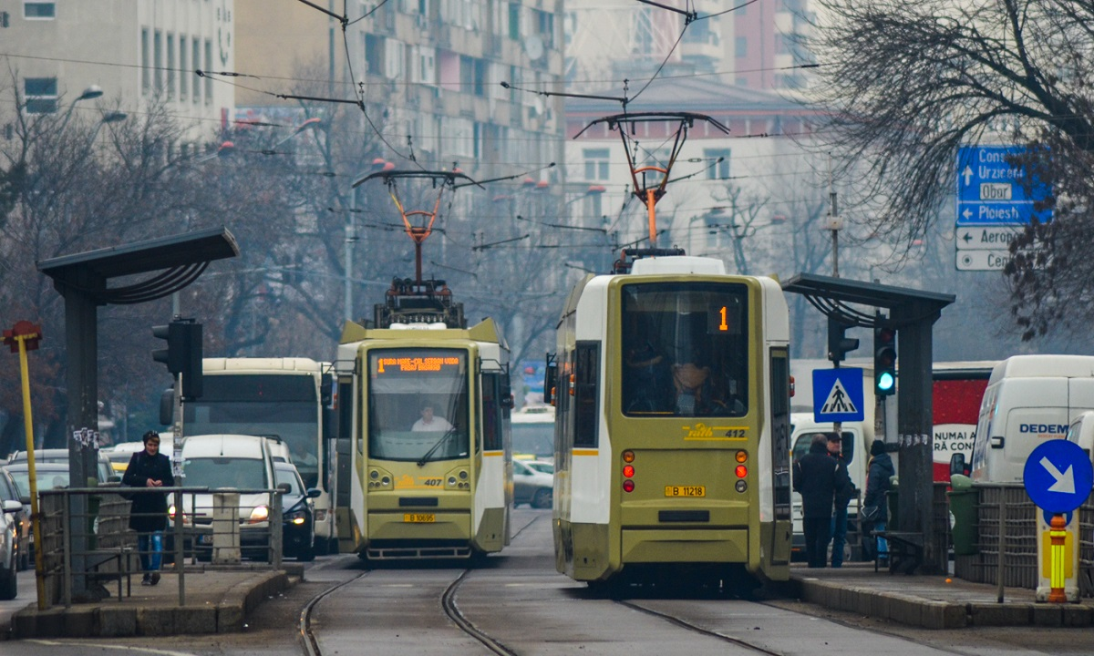 Tramvai 1 şi 10: Încep lucrările de separare a liniilor de traficul auto general