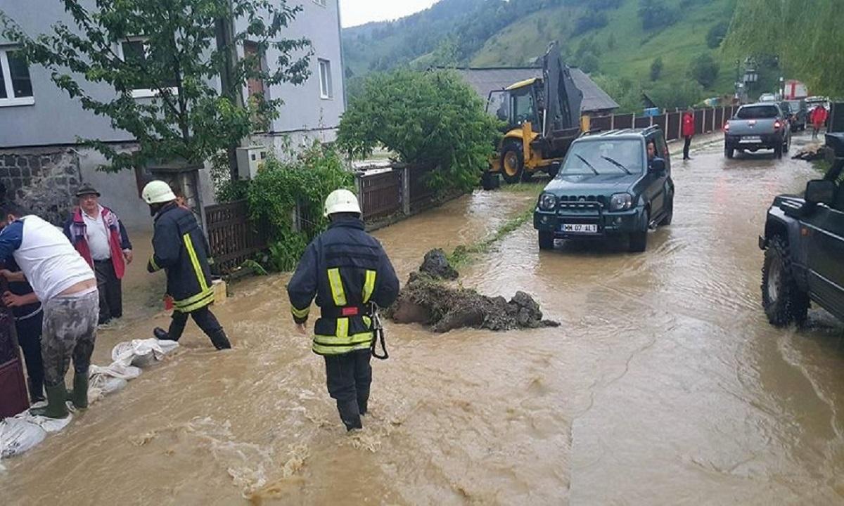 Maramureș: Inundații au provocat pagube de 4 milioane de lei