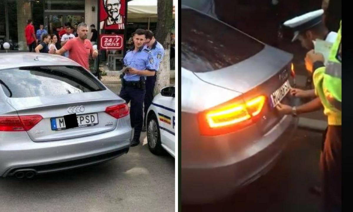 Ce spune Poliția Română despre scandalul cu șoferul cu numere de înmatriculare anti-PSD