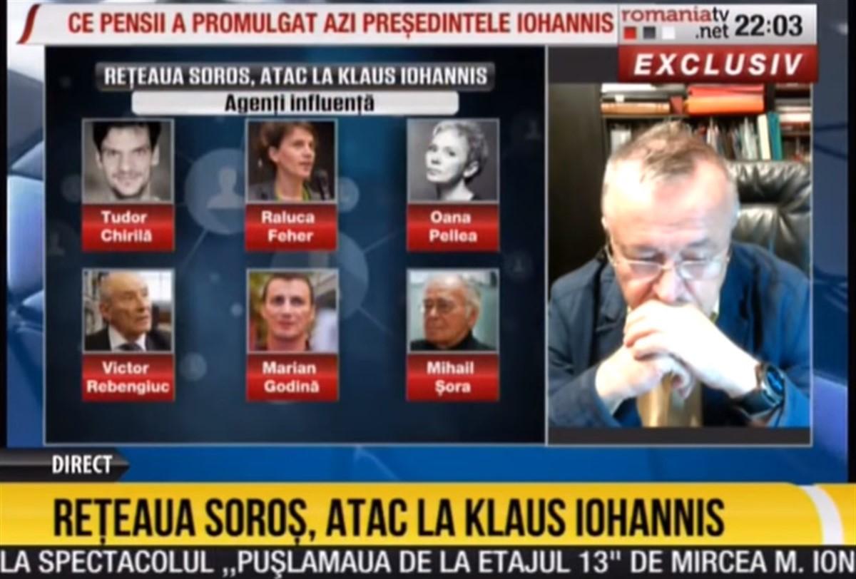 """România TV, atac furidund la Tudor Chirilă, Marian Godină și alții, acuzați că fac parte din """"rețeaua Soros"""