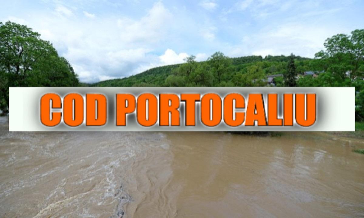 Cod portocaliu de inundații în Constanța