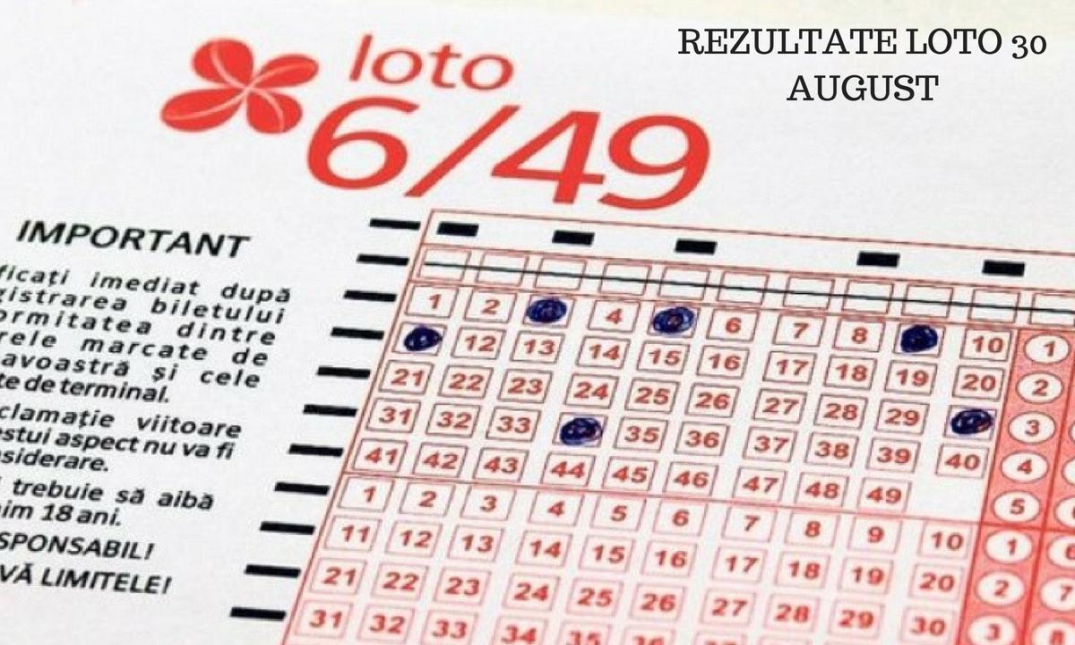 Rezultate Loto 30 august 2018: Numere câștigătoare la Loto 6/49, Joker, Noroc