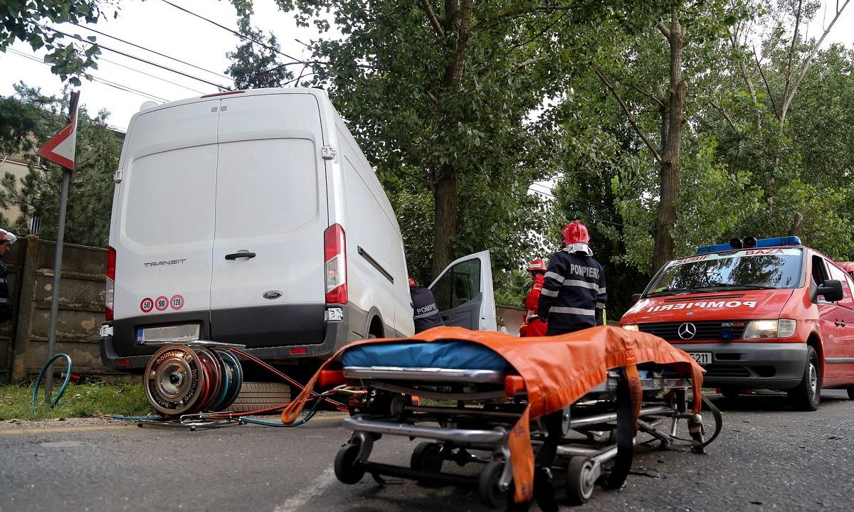 Accident în Roșcani, Galați. Cinci copii accidentați de un șofer care avea alcoolemia 0.99 grame la mie alcool pur în aerul expirat