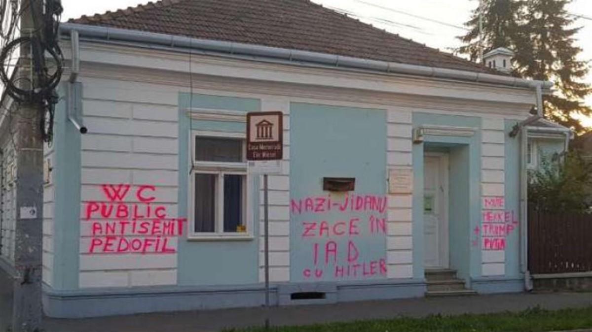 Casa memorială Elie Wiesel din Sighetu Marmației, vandalizată. Reacția MAE