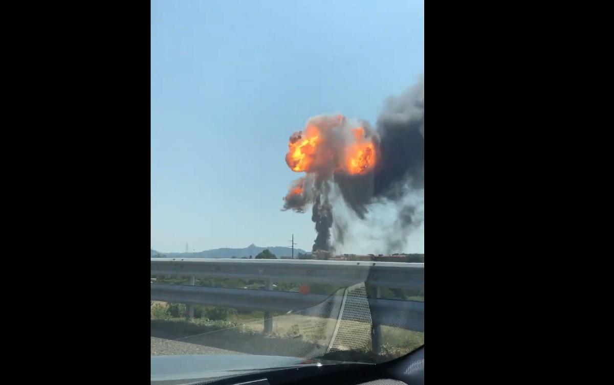 Italia: Explozie de proporții lângă aeroportul din Bologna - VIDEO