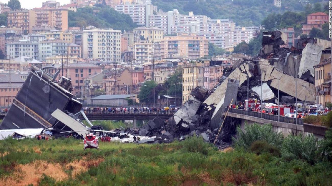 Un român a murit după prăbușirea podului din Genova. Cine este victima