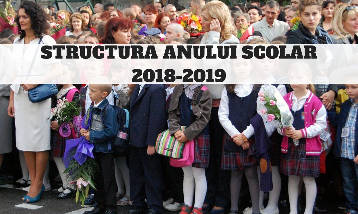 Structura anului școlar 2018-2019. Când au elevii vacanțe