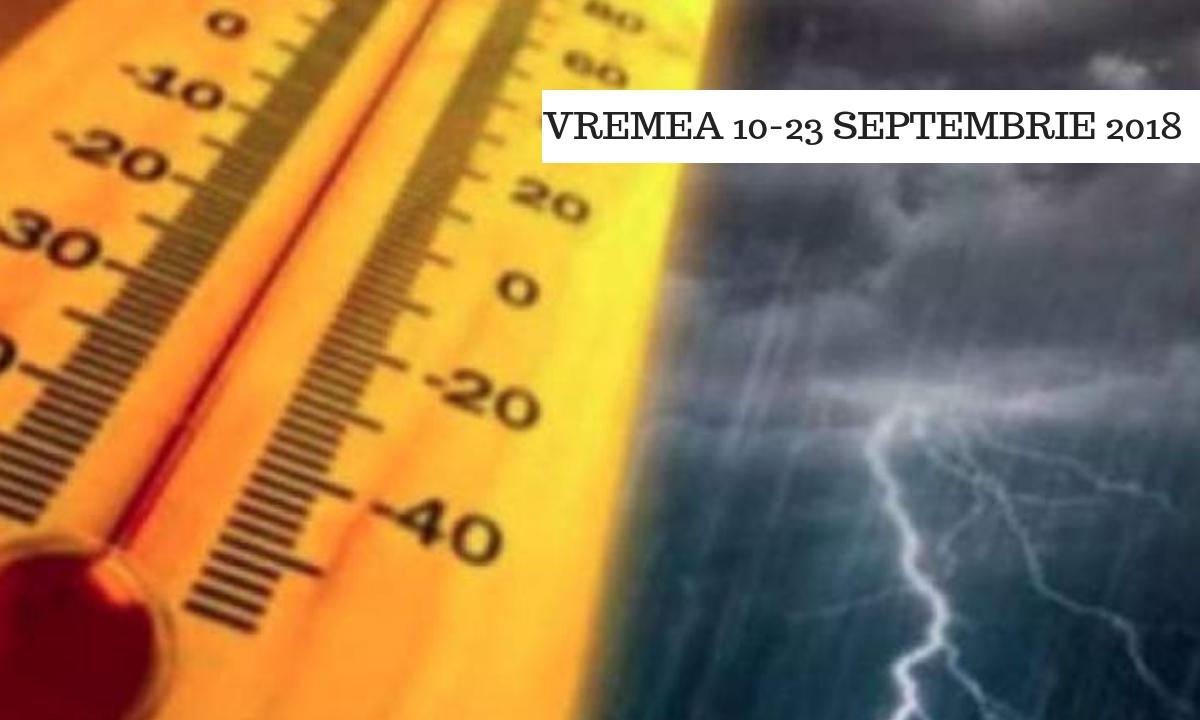 Vremea în perioada 10-23 septembrie 2018. Ce anunță ANM pentru 2 săptămâni